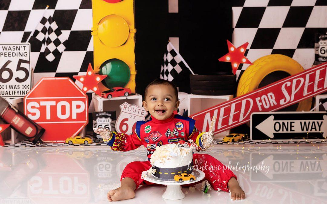 Kitchener Race Car Cake Smash!